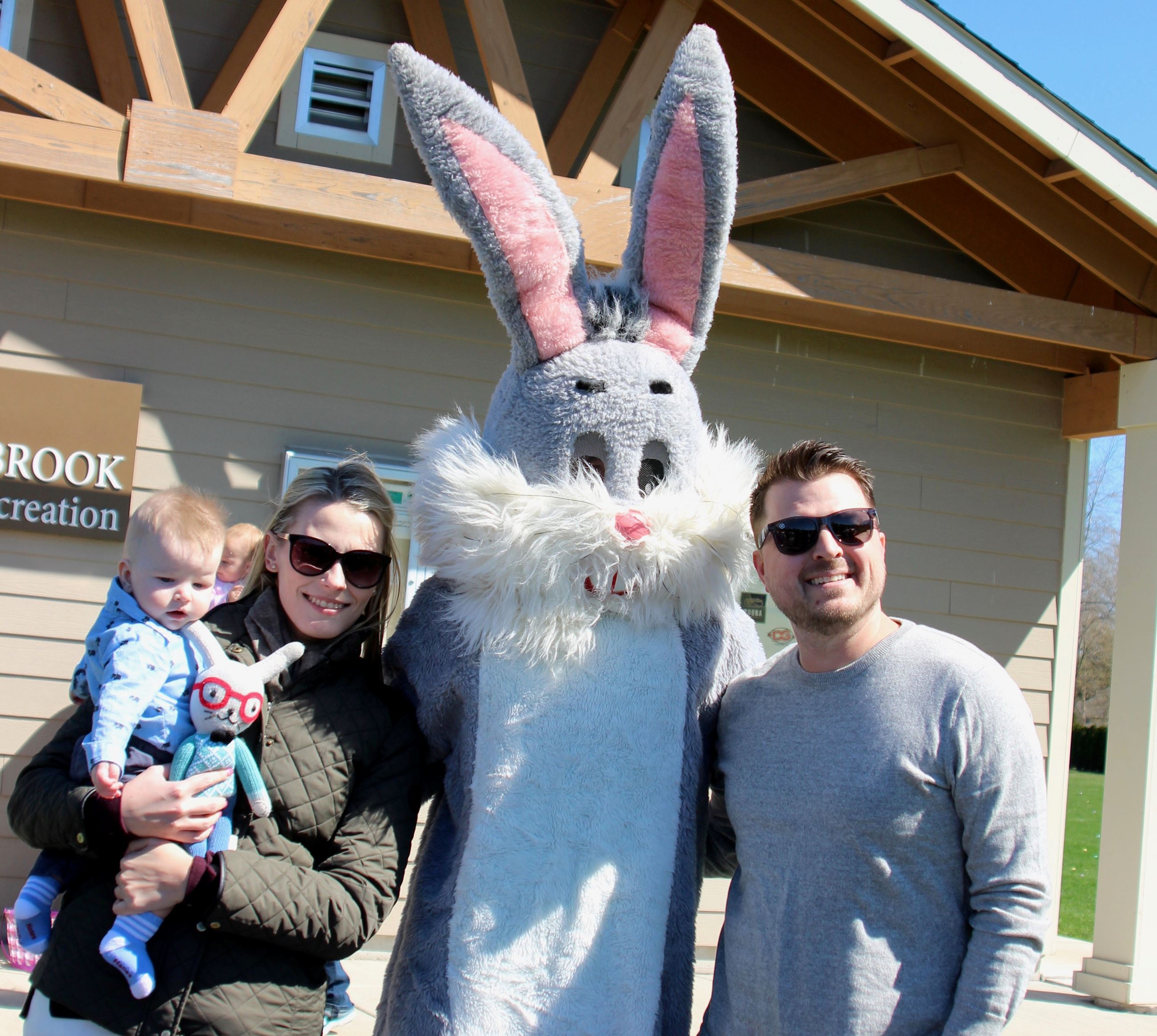 Family with the Easter Bunny